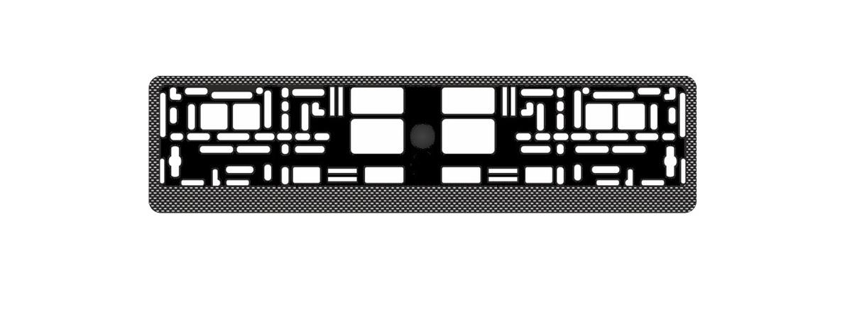 """Рамка под номерной знак """"AVS"""", цвет: темный карбон"""