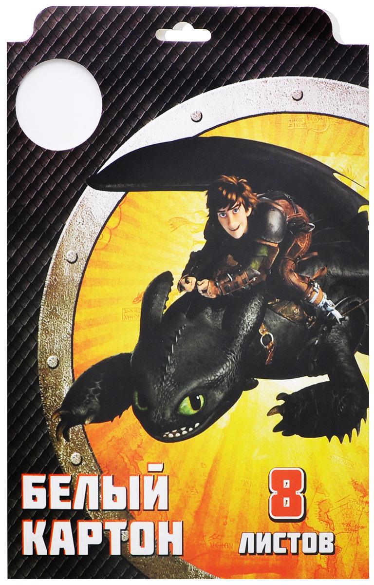 Action! Набор белого картона Dragons 8 листов 2 шт цвет папки черный желтый72523WDКартон мелованный белый Action! Dragons позволит вашему ребенку создавать всевозможные аппликации и поделки. Набор состоит из 8 листов картона белого цвета формата А4. Листы упакованы в оригинальную картонную папку, оформленную изображением героев Dragons. Создание поделок из картона поможет ребенку в развитии творческих способностей, кроме того, это увлекательный досуг.Рекомендуемый возраст от 6 лет.