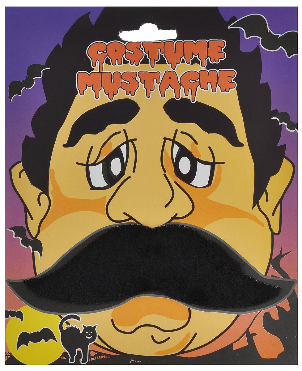"""Приставные маскарадные усы Феникс-презент """"Фермер"""" изготовлены из полиэстера. Изделие оснащено задней клейкой стороной, благодаря чему крепится на лицо очень просто и долго держится, не спадая. Это отличный маскарадный аксессуар, который поможет вам перевоплотиться в другого человека. Размер усов: 12 см х 3,5 см."""