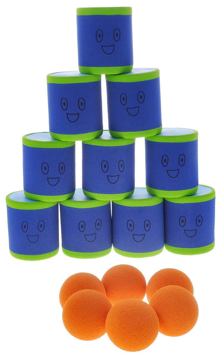 Safsof Игровой набор Городки цвет синий оранжевый салатовый