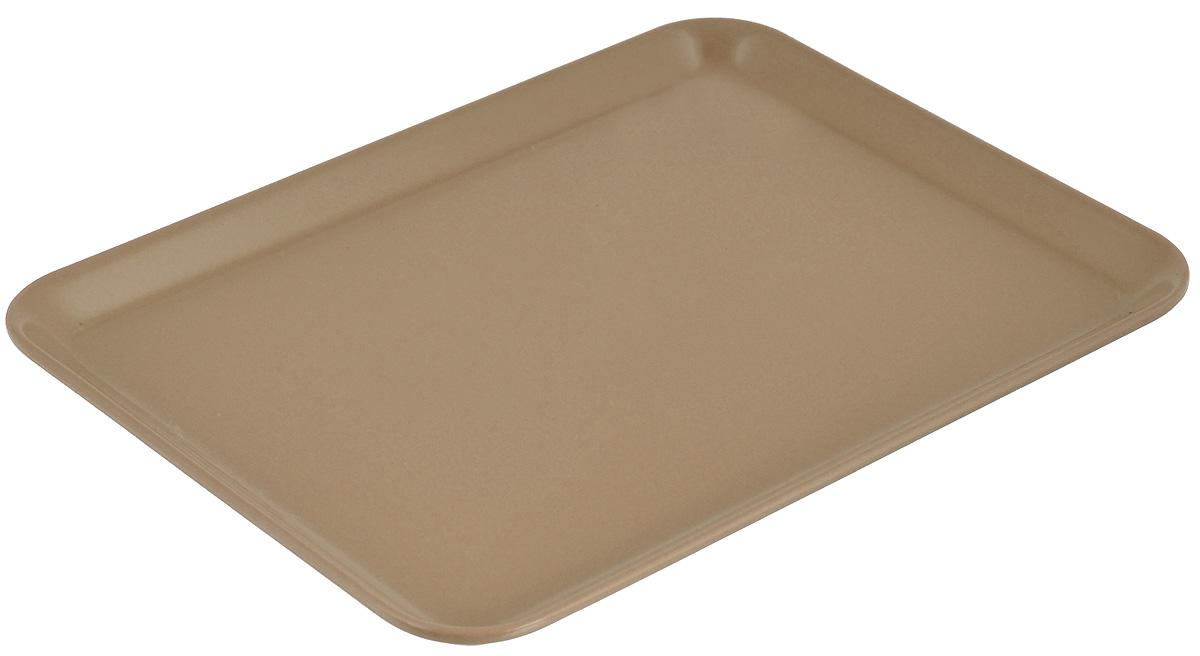 Поднос Zeller, цвет: светло-коричневый, 24 см х 18 см115510Оригинальный поднос Zeller, изготовленный из пластика, станет незаменимым предметом для сервировки стола. Поднос не только дополнит интерьер вашей кухни, но и предохранит поверхность стола от грязи и перегрева. Яркий и стильный поднос Zeller придется по вкусу и ценителям классики, и тем, кто предпочитает современный стиль.