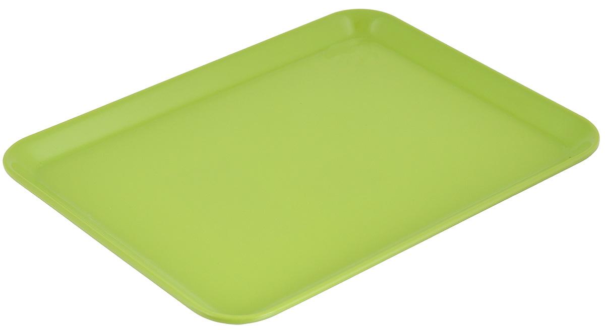 Поднос Zeller, цвет: салатовый, 24 х 18 см54 009312Оригинальный поднос Zeller, изготовленный из пластика, станет незаменимым предметом для сервировки стола. Поднос не только дополнит интерьер вашей кухни, но и предохранит поверхность стола от грязи и перегрева. Яркий и стильный поднос Zeller придется по вкусу и ценителям классики, и тем, кто предпочитает современный стиль.