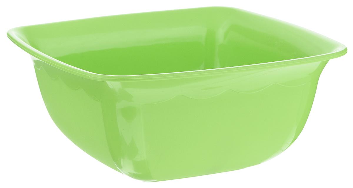 Миска Dunya Plastik, квадратная, цвет: салатовый, 1,7 л115510Миска Dunya Plastik изготовлена из пищевого пластика квадратной формы. Внешние стенки миски матовые, внутренние глянцевые. Изделие очень функциональное, оно пригодится на кухне для самых разнообразных нужд: в качестве салатника, миски, тарелки.Можно мыть в посудомоечной машине.Размер миски (по верхнему краю): 19,5 х 19,5 см.