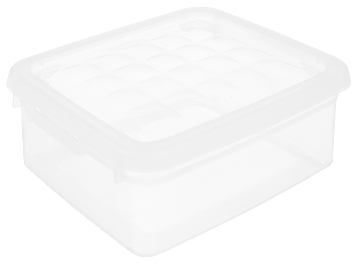 Контейнер для хранения Curver, 1,8 лsj 51Контейнер для хранения Curver изготовлен из прозрачного пластика. Контейнер предназначен для хранения канцелярии, медикаментов, различных мелких предметов. Изделие снабжено плотно закрывающейся крышкой, украшенной рельефом в виде объемных квадратов. Такой контейнер поможет хранить все в одном месте, а также защитить вещи от пыли, грязи и влаги.