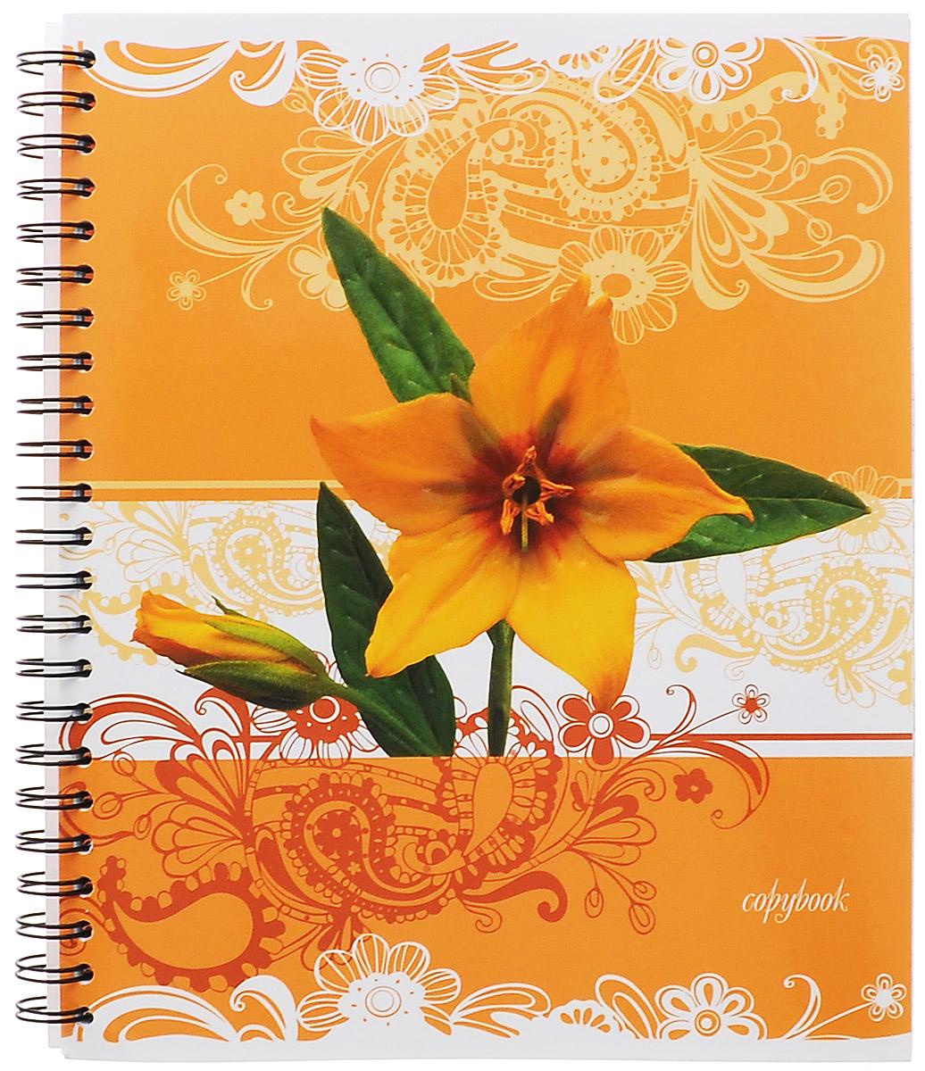 Полиграфика Тетрадь в клетку Цветы, цвет: желтый, 96 листов120ТК5B1_10505Тетрадь Полиграфика Цветы представлена в формате А5. Тетрадь в глянцевой обложке с рельефным тиснением и изображением желтого цветка. Внутренний блок состоит из 96 листов со стандартной линовкой в клетку без полей на стальном гребне. Такое практичное и надежное крепление позволяет вырывать листы и полностью открывать тетрадь на столе.Вне зависимости от профессии и рода деятельности у человека часто возникает потребность сделать какие-либо заметки. Именно поэтому всегда удобно иметь эту тетрадь под рукой, особенно если вы творческая личность и постоянно генерируете новые идеи.