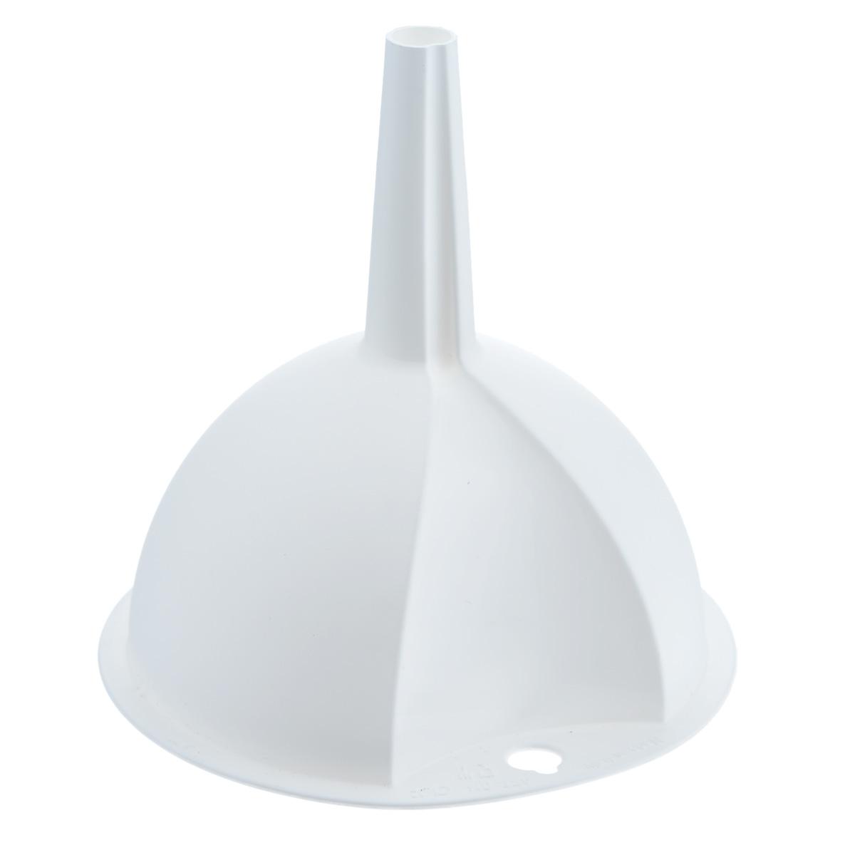 Воронка Metaltex, цвет: белый, диаметр 10 см54 009312Воронка Metaltex, выполненная из пластика, станет незаменимым аксессуаром на вашей кухне. Воронка плотно прилегает к краям наполняемой емкости, и вы не прольете ни капли мимо.Она отлично послужит для переливания жидкостей в сосуд с узким горлышком. Диаметр воронки: 10 см.Высота ножки: 5 см.