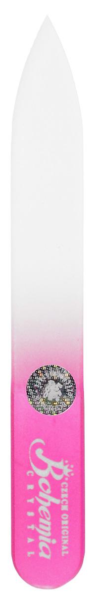 Bohemia Пилочка для ногтей, стеклянная, чехол из мягкого пластика, цвет: розовый. 0902PMF2232Стеклянная пилочка Bohemia подходит как для натуральных, так и для искусственных ногтей. Она прекрасно шлифует и придает форму ногтям. После пользования стеклянной пилочкой ногти не слоятся и не ломаются. При уходе за накладными ногтями во время работы ее рекомендуется периодически смачивать в воде. Поверхность стеклянной пилочки не поддается коррозии.К пилочке прилагается замшевый чехол.Материал пилочки: богемское стекло.