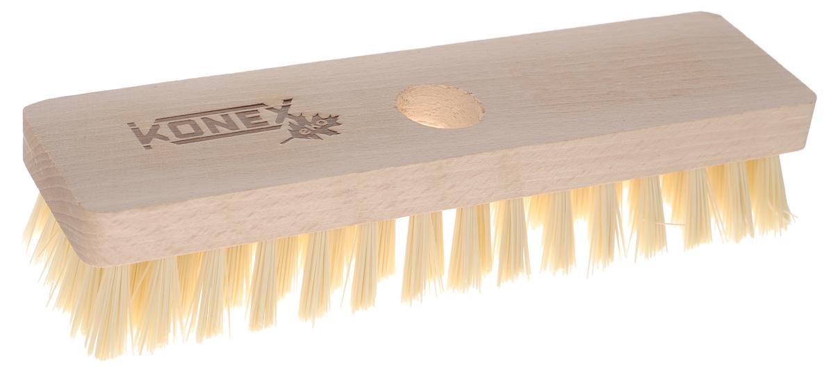 Щетка-насадка для пола Konex Шробер10004_серый с салатовымЩетка-насадка Konex Шробер с длинным ворсом, изготовлена из дерева ипредназначена для уборки в доме и на улице. Упругие и длинные волоски щетки-насадки не оставят от грязи и следа. Изогнутые под углом щетинки облегчатчистку углов помещения. Длина ворса: 2,7 см.Диаметр отверстия для черенка: 2,2 см.