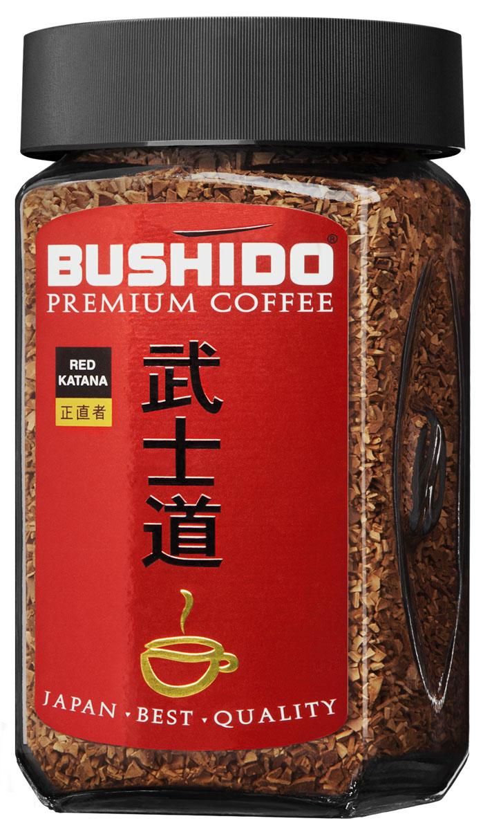 Bushido Red Katana кофе растворимый, 50 г7610121710332Bushido Red Katana изготовлен из арабики, собранной на высокогорных плантациях Восточной Африки. Обладает мягким вкусом и терпким винным ароматом.