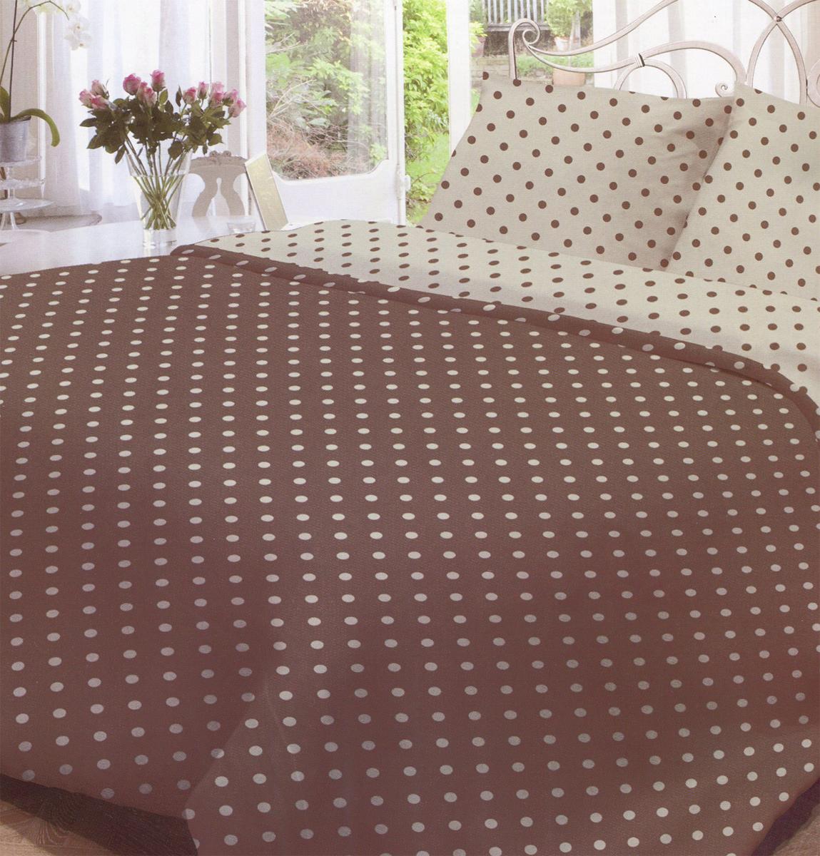 Комплект белья Нежность Мадлена, 2-спальный, наволочки 70x70, цвет: серый, коричневый68/5/3Комплект белья Нежность Мадлена, изготовленный из бязи (100% хлопка), состоит из пододеяльника, простыни и двух наволочек. Бязевое постельное белье имеет самое простое полотняное переплетение из достаточно толстых, но мягких нитей. Стоит постельное белье из этой ткани не намного дороже поликоттона или полиэфира, но приятней на ощупь и лучше пропускает воздух. Благодаря современным технологиям окраски, белье не теряет свой цвет даже после множества стирок. Рекомендации по уходу: - Стирка при температуре не более 60°С, - Не отбеливать, - Можно гладить, - Химчистка запрещена.