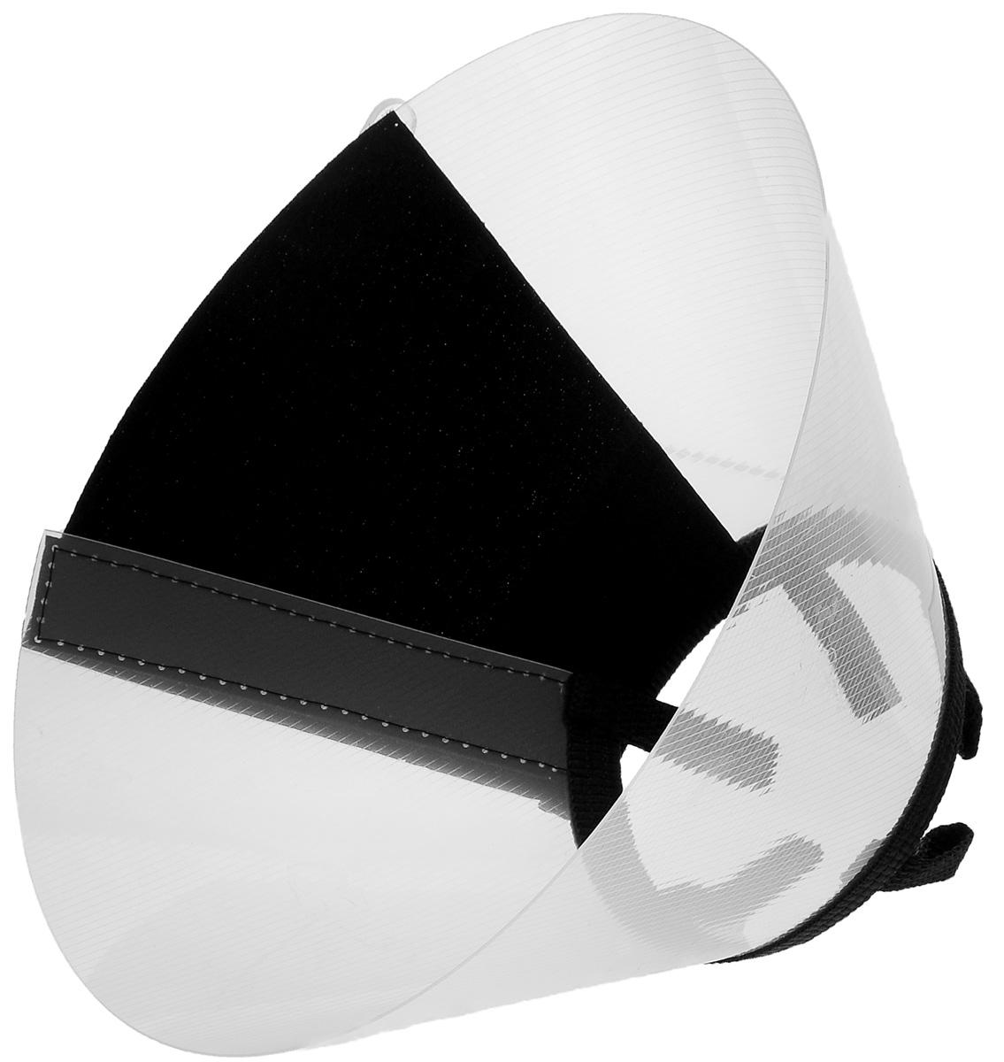 Воротник защитный Талисмед, на липучке, обхват шеи 21-26 см12171996Защитный воротник Талисмед изготовлен из высококачественного нетоксичного пластика, который позволяет сохранять углы обзора для животного. Изделие разработано для ограничения доступа собаки к заживающей ране или послеоперационному шву. Простота в эксплуатации позволяет хозяевам самостоятельно одевать и снимать защитный воротник с собаки. Воротник крепится закрепляется при помощи липучки.Обхват шеи: 21-26 см.Высота воротника: 8 см.