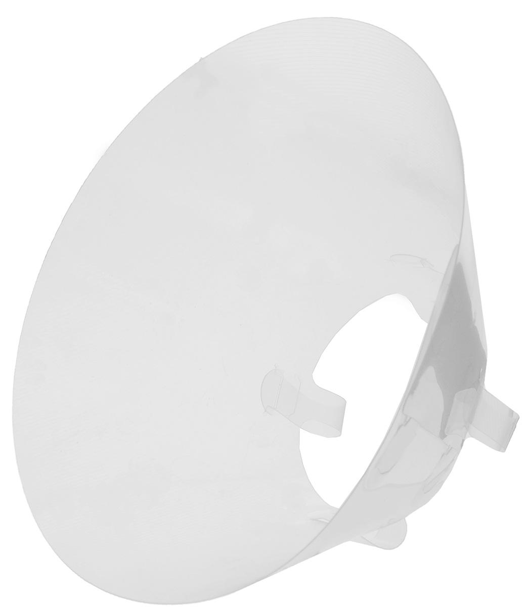 Воротник защитный Талисмед, обхват шеи 24-29 см12171996Защитный воротник Талисмед изготовлен из высококачественного нетоксичного пластика, который позволяет сохранять углы обзора для животного. Изделие разработано для ограничения доступа собаки к заживающей ране или послеоперационному шву. Простота в эксплуатации позволяет хозяевам самостоятельно одевать и снимать защитный воротник с собаки. Обхват шеи: 24-29 см.Высота воротника: 10 см.