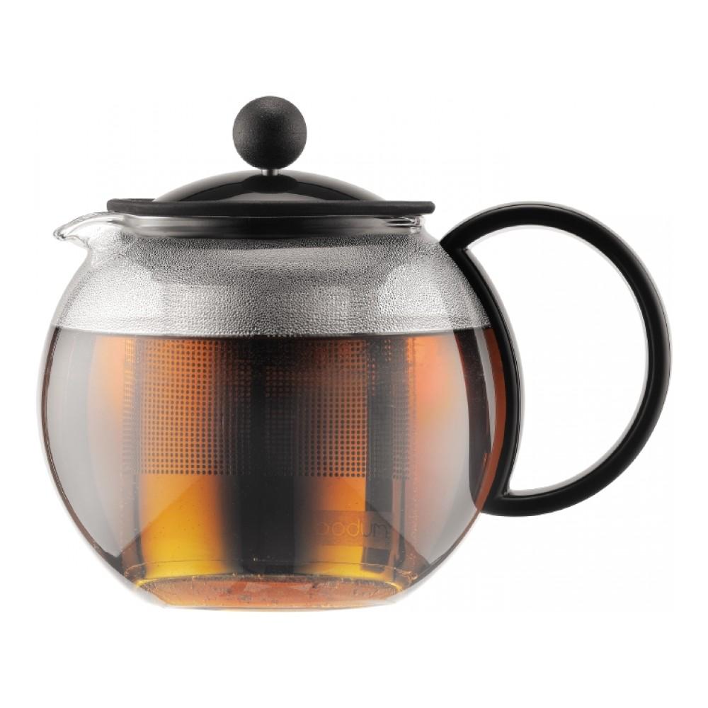 Чайник заварочный Bodum Assam, с фильтром, 0,5 л115510Заварочный чайник Bodum Assam изготовлен из высококачественного стекла, пластика и нержавеющей стали. Изделие оснащено фильтром, благодаря которому задерживает чаинки и предотвращает попадание их в чашку. Прозрачный корпус обеспечивает легкую очистку. Чайник поможет заварить крепкий ароматный чай и великолепно украсит стол к чаепитию. Можно мыть в посудомоечной машине.