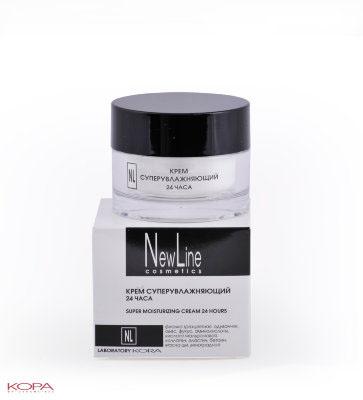 New Line Крем суперувлажняющий 24 часа,50 млCM30SSКрем содержит комплекс увлажняющих компонентов, обеспечивающих как мгновенное увлажнение кожи, так и долговременное стабильное восстановление водного баланса глубоких слоев.