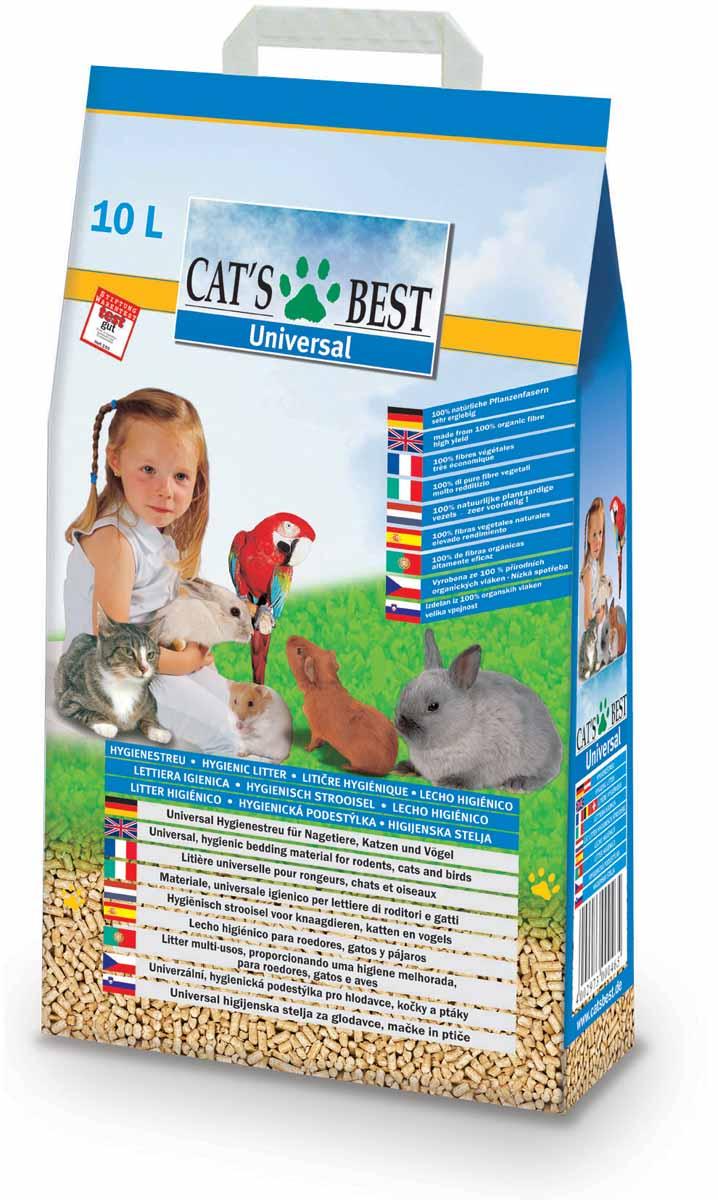 Cats Best Universal Наполнитель древесный впитывающий 10л*5,5кг0120710Универсальная до гениальности насыпная подстилка- наполнитель: как оптимальное решение в уходе за многими видами домашних животных и птиц, даже если у Вас содержится несколько различных пород.