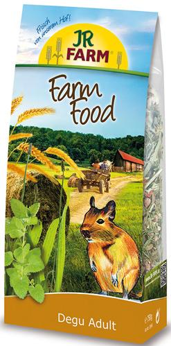 JR FARM 13645 Farm Food Adult Корм для дегу 750г0120710Корм Adult для взрослых животных содержит все питательные вещества, витамины и минералы. В этот корм специально так же был добавлен зеленый овес и семена диких трав - любимое лакомство дегу.