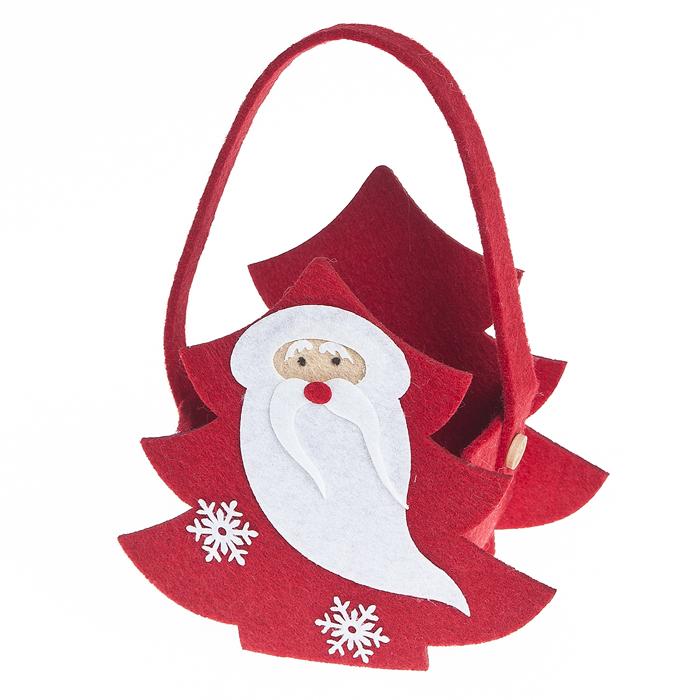 Декоративная корзинка Lunten Ranta Щедрый Дед Мороз, 13,5 х 15 х 8 см38226Декоративная корзинка Lunten Ranta Щедрый Дед Мороз изготовлена из фетра. Изделие выполнено в виде елочки с одной удобной ручкой, украшено оригинальными рисунком в виде лица Деда Мороза. Красивая корзинка станет милым сувениром на Новый год и порадует получателя. Может послужить как подарочная упаковка для подарка.