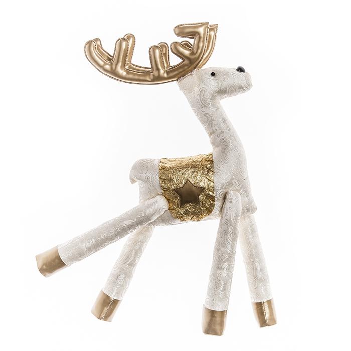Мягкая игрушка Its a Happy Day Золотой олень, высота 34 см67857Очаровательная мягкая игрушка Its a Happy Day «Золотой олень» не оставит равнодушным и вызовет улыбку у каждого, кто ее увидит. Игрушка сделана из полиэстера в виде забавного оленя.Мягкая и приятная на ощупь игрушка станет замечательным подарком, который принесет массу положительных эмоций.