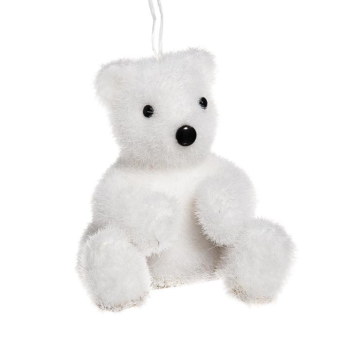Новогоднее подвесное украшение Its a Happy Day Сидящий медвежонок, цвет: белый, 7 см х 7 см х 8,5 см38235Подвесное новогоднее украшение Its a Happy Day Сидящий медвежонок, выполненное из пенопласта и искусственного волокна, прекрасно подойдет для праздничного декора вашей ели. Изделие выполнено в виде забавного медвежонка, декорированного блестками. С помощью специальной петельки его можно повесить в любом понравившемся вам месте. Но удачнее всего такая игрушка будет смотреться на праздничной елке. Материал: пенопласт, искусственное волокно.