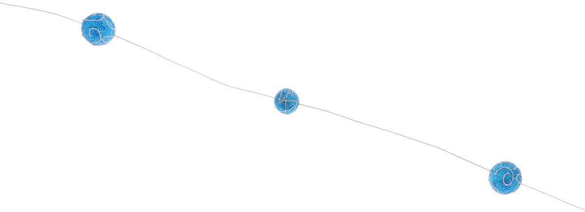 Новогодняя гирлянда Lunten Ranta Нарядная, цвет: синий, длина 2 мIRK-503Новогодняя гирлянда Lunten Ranta Нарядная отлично подойдет для декорации вашего дома и новогодней ели. Изделие представляет собой ожерелье из бусин разных диаметров, изготовленных из пенопласта и нанизанных на блестящую нитку. Новогодние украшения несут в себе волшебство и красоту праздника. Они помогут вам украсить дом к предстоящим праздникам и оживить интерьер по вашему вкусу. Создайте в доме атмосферу тепла, веселья и радости, украшая его всей семьей. Диаметр бусин: 2 см; 3 см.