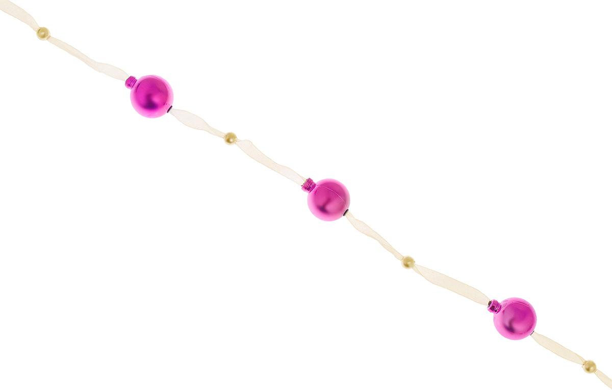 Новогодняя гирлянда Lunten Ranta, цвет: фуксия, длина 2 м. 65517 гирлянда lunten ranta люстры 10 ламп 1 6 м