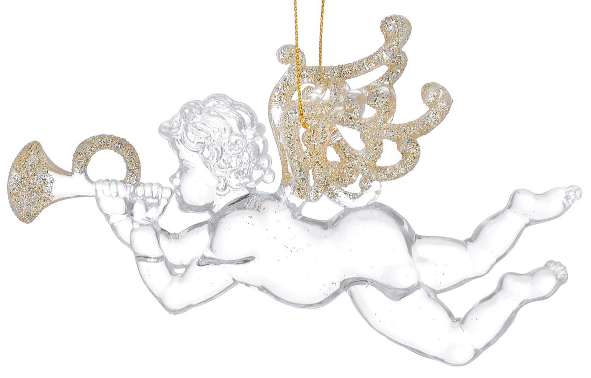 Новогоднее подвесное украшение Феникс-презент Музыкальные ангелочки, 11,5 х 8,5 смA1484FN-1BNПодвесное украшение Феникс-презент Музыкальные ангелочки, выполненное из прозрачного пластика, прекрасно подойдет для праздничного декора вашей ели. Оригинальное новогоднее украшение в виде ангела оформлено блестками. С помощью специальной петельки его можно повесить в любом понравившемся вам месте. Но, конечно, удачнее всего такая игрушка будет смотреться на праздничной елке. Елочная игрушка - символ Нового года и Рождества. Она несет в себе волшебство и красоту праздника. Создайте в своем доме атмосферу веселья и радости, украшая новогоднюю елку нарядными игрушками, которые будут из года в год накапливать теплоту воспоминаний.