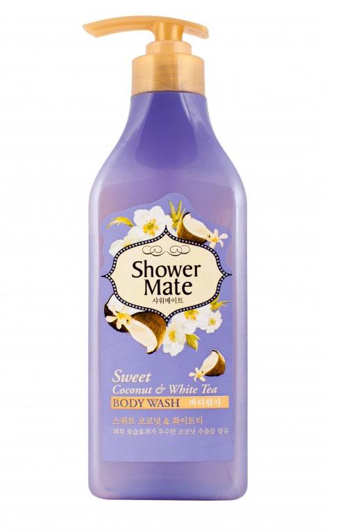 Shower Mate Гель для душа Кокос и белый чай, 550 гFS-00897Гель для душа Shower Mate Кокос и белый чай обладает превосходным увлажняющим эффектом благодаря чему поможет сохранить вашу кожу мягкой и увлажненной .Богатый витаминами и минералами, белый чай очищает кожу и дарит ей здоровый, сияющий вид. Сладкий аромат кокосаи свежий аромат белого чая создают ощущение комфорта.