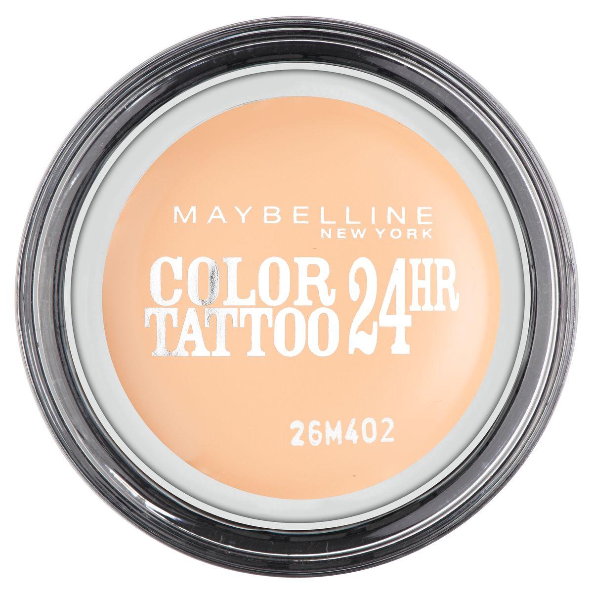 Maybelline New York Тени для век Color Tattoo, оттенок 93, Бежевая нежность, 4 млMFM-3101Технология тату-пигментов создает яркий, супернасыщенный цвет. Крем-гелевая текстура обеспечивает ультралегкое нанесение и стойкость на 24 часа.