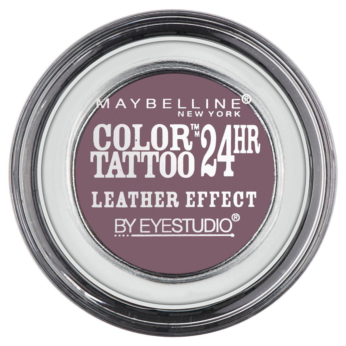 Maybelline New York Тени для век Color Tattoo, оттенок 97, Сливовый десерт, 4 млMFM-3101Технология тату-пигментов создает яркий, супернасыщенный цвет. Крем-гелевая текстура обеспечивает ультралегкое нанесение и стойкость на 24 часа.