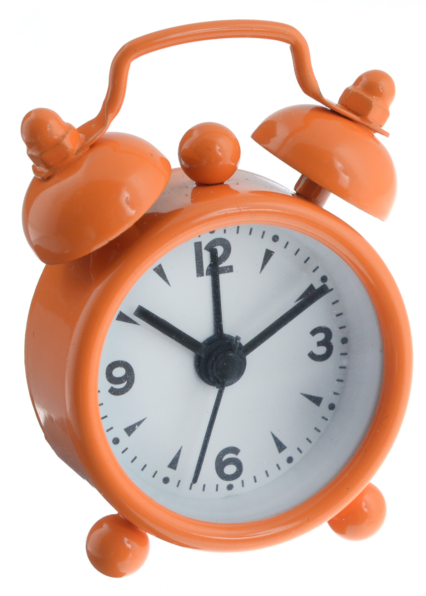 Часы-будильник Sima-land, цвет: оранжевый. 1103898HRCB-7768Как же сложно иногда вставать вовремя! Всегда так хочется поспать еще хотя бы 5 минут и бывает, что мы просыпаем. Теперь этого не случится! Яркий, оригинальный будильник Sima-land поможет вам всегда вставать в нужное время и успевать везде и всюду. Будильник украсит вашу комнату и приведет в восхищение друзей. Эта уменьшенная версия привычного будильника умещается на ладони и работает так же громко, как и привычные аналоги. Время показывает точно и будит в установленный час.На задней панели будильника расположены переключатель включения/выключения механизма, а также два колесика для настройки текущего времени и времени звонка будильника.Будильник работает от 1 батарейки типа LR44 (входит в комплект).