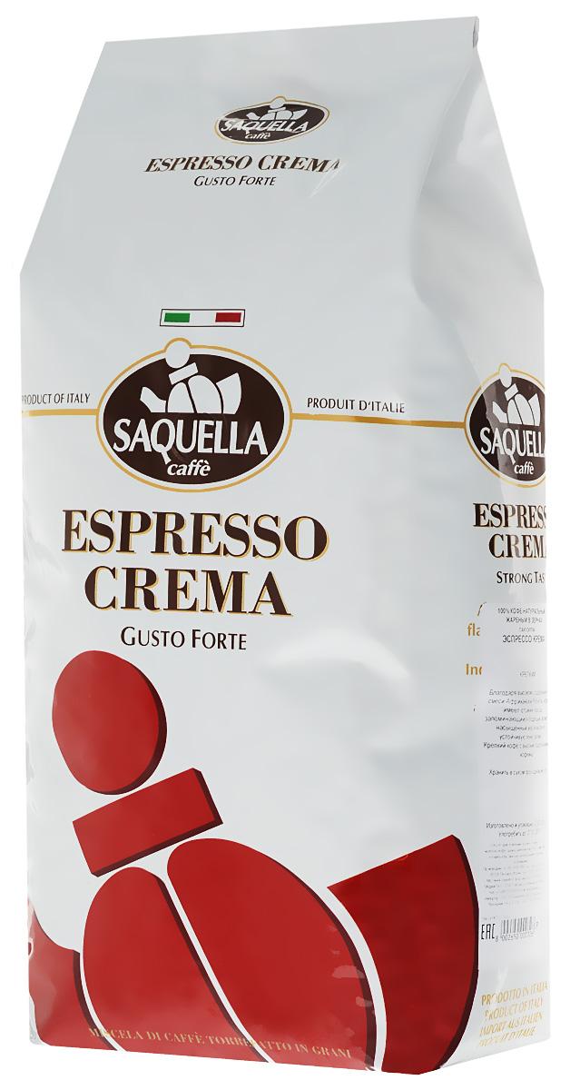 Saquella Espresso Crema кофе в зернах, 1000 г101246Saquella Espresso Crema - это кофе, который можно встретить в небольших итальянских кафе. Высокий уровень содержания африканской робусты наделяет эту смесь благородной стойкостью, плотной пенкой (крема), насыщенным вкусом и бодрящим ароматом.