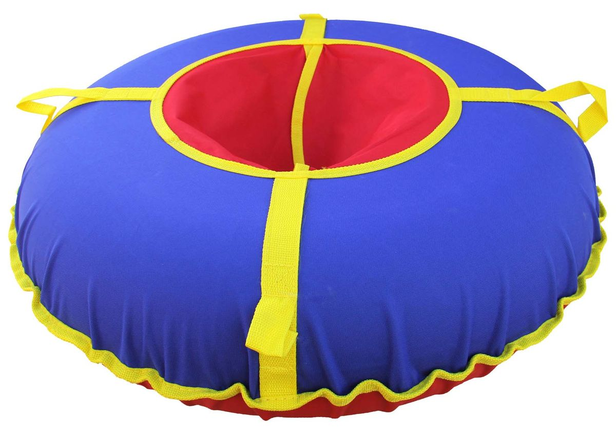 """Сани надувные """"Super Jet Tubing"""" Ultra, диаметр в надутом состоянии 75 см, цвет: сине-красный, Арт. SJT-75TO"""