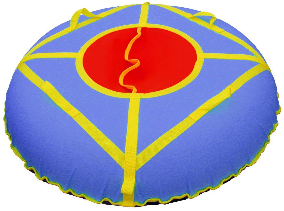 Тюбинг Super Jet Tubing Ultra, цвет: сине-красный, диаметр 105 см. Арт.SJT-105TOSJT-105TOТюбинг для взрослых Super Jet Tubing Ultra предназначен для зимнего катания.Центральный сектор защищает от попадания снега внутрь тюбинга и состоит из двух частей внахлест без дополнительных застежек.Верхняя часть изготовлена из водонепроницаемого материала Oxford 600D из полиамидных волокон с полиуретановой пропиткой и обладает высокой стойкостью к истиранию, сохраняя гибкость и легкость. Нижняя часть изготавливается из прочного южнокорейского тентового ПВХ плотностью 650 г/м2. Этот материал при достаточной плотности и стойкости к истиранию, обладает великолепными скользящими свойствами.Конструкция этой модели усилена с помощью 8 нейлоновых лент шириной 3 см, на которых расположены 4 мягкие нейлоновые ручки и 2 петли для крепления буксировочной ленты. Прилагается буксировочная нейлоновая лента шириной 3 см и длиной 1,2 метра из нейлона с двумя петлями по концам для крепления к тюбингу.Диаметр чехла в сдутом состоянии: 120 см.Диаметр тюбинга в надутом состоянии: 105 см.В комплекте усиленная камера из эластичной резины размером 9.0-20.Швы закрыты нейлоновой лентой для увеличения прочности на разрыв.Материал верхней части: водонепроницаемая ткань Oxford 600D PU. Материал нижней части: тентовый ПВХ плотностью 650 г/м2. Материал строп: нейлон. Материал камеры: резина.