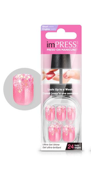 Kiss Broadway Твердый лак Импрессс Маникюр Вечеринка, длина короткая Impress Manicure, цвет: розовый14-1628