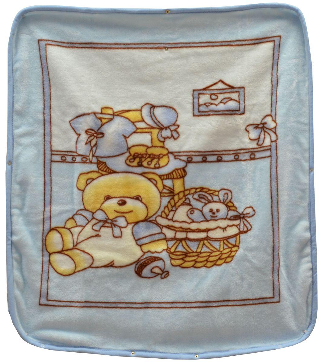 Bonne Fee Плед-накидка для младенцев на молнии 1, 80 х 90 см, цвет: голубойV353365Плед-накидка для младенцев на молнии Bonne Fee - защита, тепло и комфорт для малышей - использован надёжный, качественный и мягкий материал! Удобство и спокойствие для родителей обеспечивается универсальностью пледа-накидки, конструкция которого позволяет ему легко превращаться в конвертик. Отличное качество и практичность! Любите своего ребёнка и дарите ему лучшее!