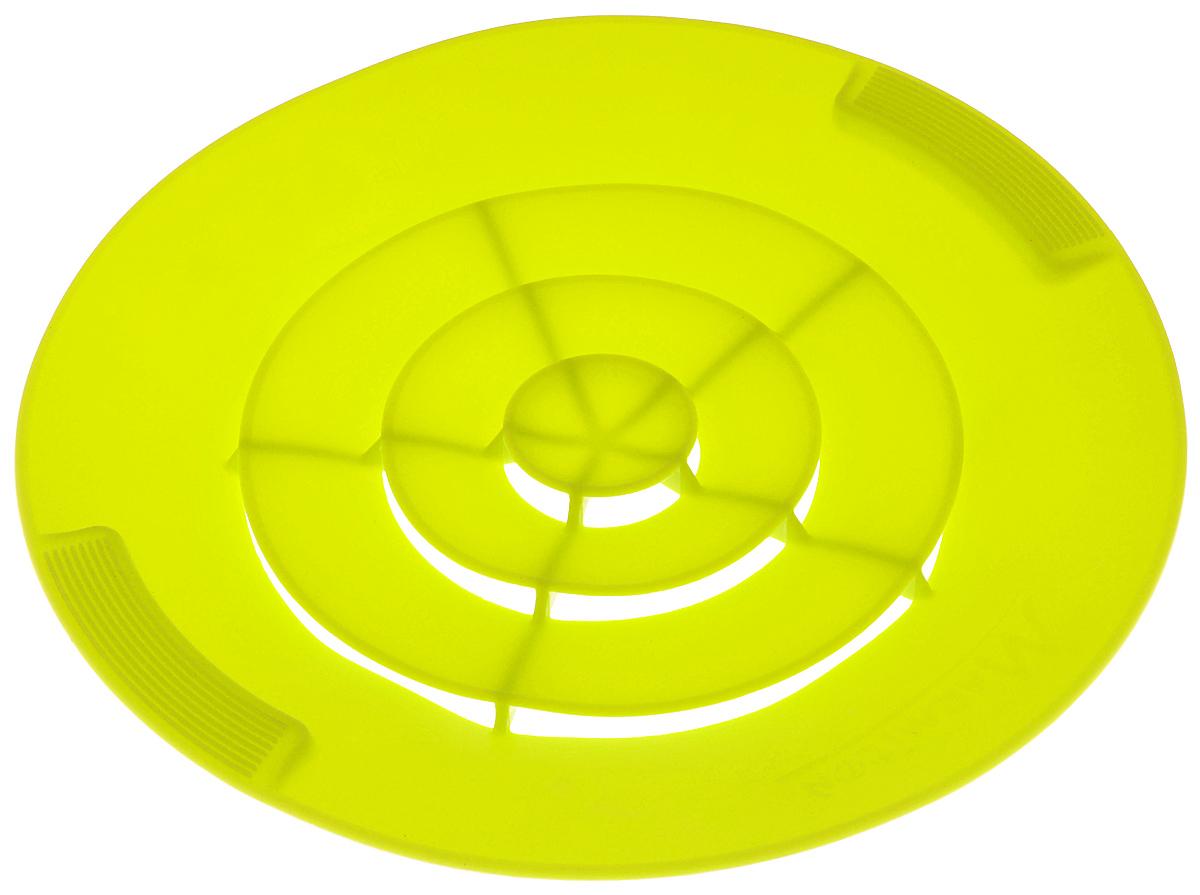 Крышка силиконовая от накипи Marmiton, цвет: лайм. Диаметр 28 см17048_лаймСиликоновая крышка Marmiton предназначена для предохранения готовящихся продуктов от выкипания. Это настоящий прорыв в кухонных технологиях и отличная альтернатива обычным крышкам. Она устроена таким образом, что пенящий бурлящий поток поднимается и сквозь специальные лепестки выходит наверх крышки, оставляя варочную поверхность сухой и чистой, даже если вы оставите готовящуюся пищу без присмотра надолго. С такой крышкой у вас ничего не убежит и не выкипит, не останется брызг от раскаленного масла, все останется в посуде и приготовится на максимально возможной температуре, сэкономив ваше время и энергию. Преимущества: - Предотвращает от выкипания. - Предотвращает беспорядок на кухне. - Подходит для любой посуды диаметром от 14 до 28 см. - Экономит время и энергию. Можно использовать на плите, в духовом шкафу и микроволновой печи. Сохраняет свежесть продуктов при хранении в холодильнике. Можно мыть в посудомоечной машине.