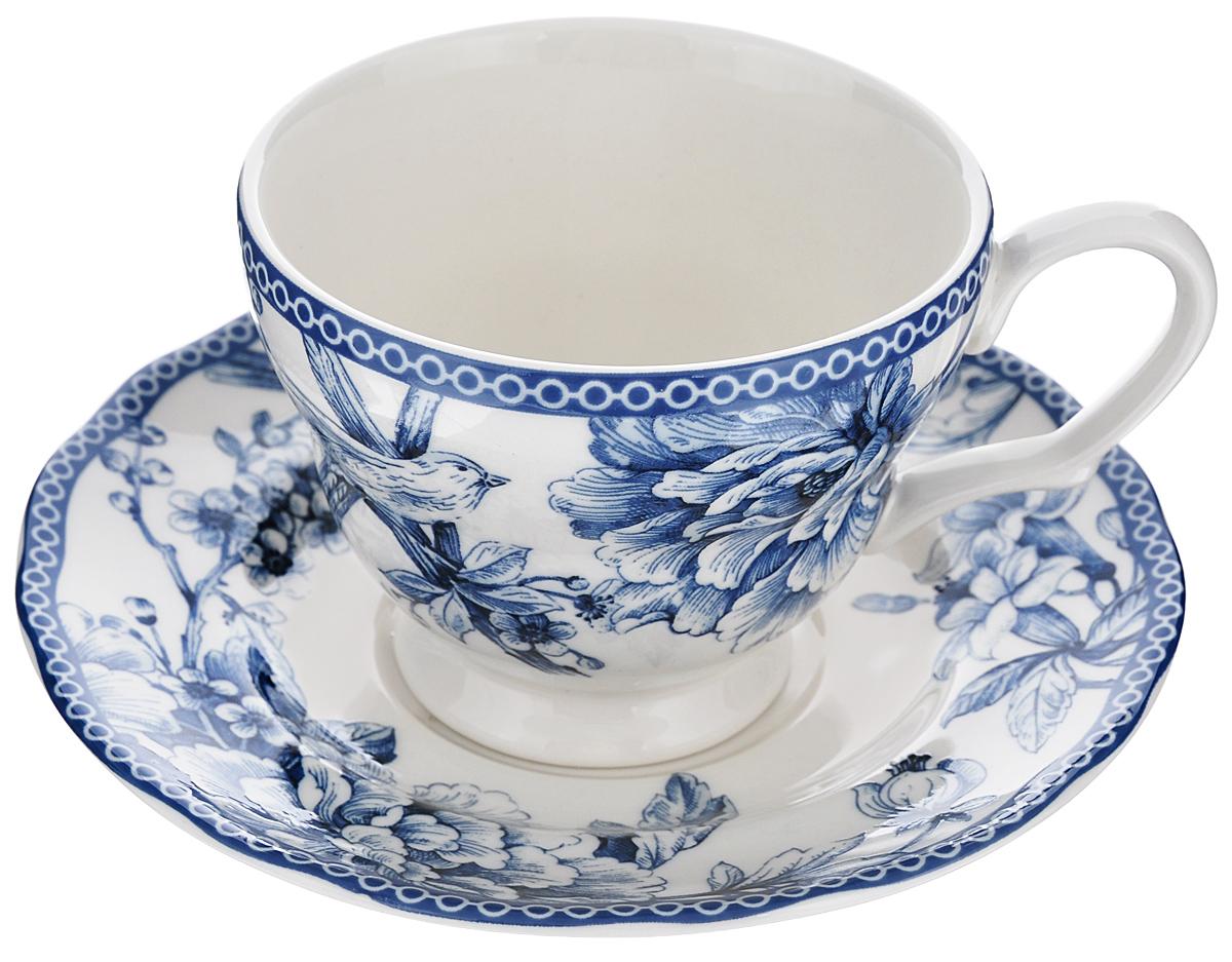 Чашка с блюдцем Utana Аделаида, 200 мл115610Чашка с блюдцем Utana Аделаида изготовлены из высококачественной керамики и декорированы оригинальным рисунком. Они прекрасно подойдут для вашей кухни и великолепно украсят стол.Изящный дизайн и красочность оформления чашки и блюдца придутся по вкусу и ценителям классики, и тем, кто предпочитает утонченность и изысканность.Объем кружки: 200 мл.Диметр кружки по верхнему краю: 9 см.Высота кружки: 7 см.Диаметр блюдца: 15 см.