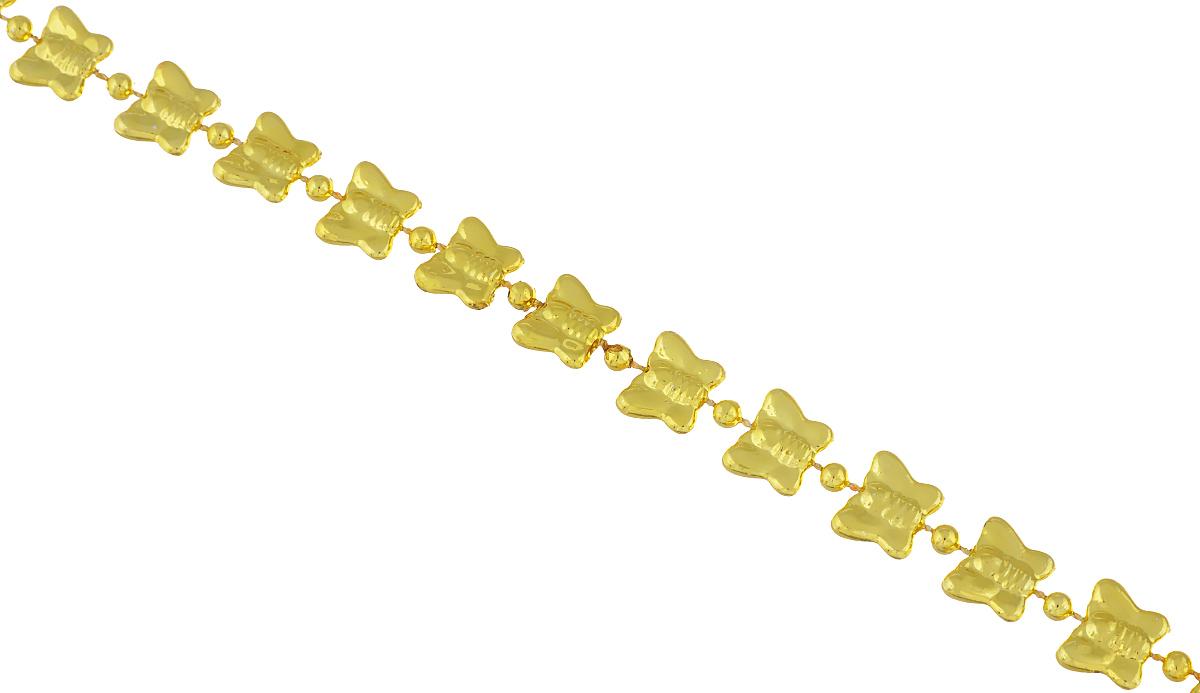 Новогоднее украшение Lunten Ranta Бусы. Бабочки, цвет: золотистый, длина 2 м65664Новогоднее украшение Lunten Ranta Бусы. Бабочки, изготовленные из высококачественного пластика, прекрасно подойдут для декора дома или новогодней ели. Новогодние бусы создают сказочную атмосферу и дарят ощущение праздника. Откройте для себя удивительный мир сказок. Почувствуйте волшебные минуты ожидания праздника, создайте новогоднее настроение вашим дорогим и близким.