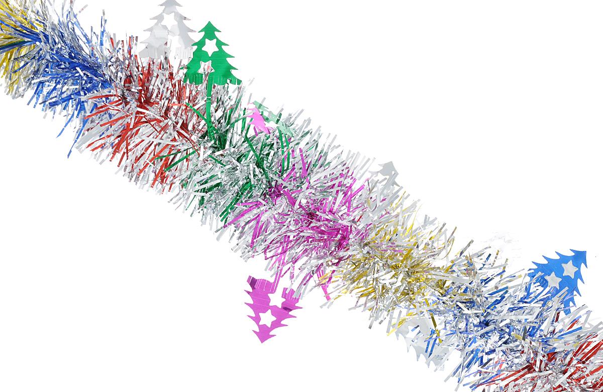 Мишура новогодняя Феникс-презент Magic Time, цвет: золотой, серебристый, фиолетовый, диаметр 6 см, длина 200 см. 38181NLED-454-9W-BKМишура новогодняя Феникс-презент Magic Time, выполненная из ПЭТ (полиэтилентерефталата), поможет вам украсить свой дом к предстоящим праздникам. Мишура армирована, то есть имеет проволоку внутри и способна сохранять приданную ей форму.Новогодняя елка с таким украшением станет еще наряднее. Новогодней мишурой можно украсить все, что угодно - елку, квартиру, дачу, офис - как внутри, так и снаружи. Можно сложить новогодние поздравления, буквы и цифры, мишурой можно украсить и дополнить гирлянды, можно выделить дверные колонны, оплести дверные проемы.