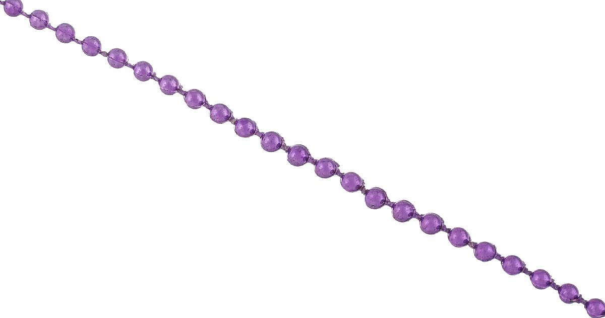 Новогоднее украшение Lunten Ranta Бусы. Классические, цвет: фиолетовый, длина 2 м