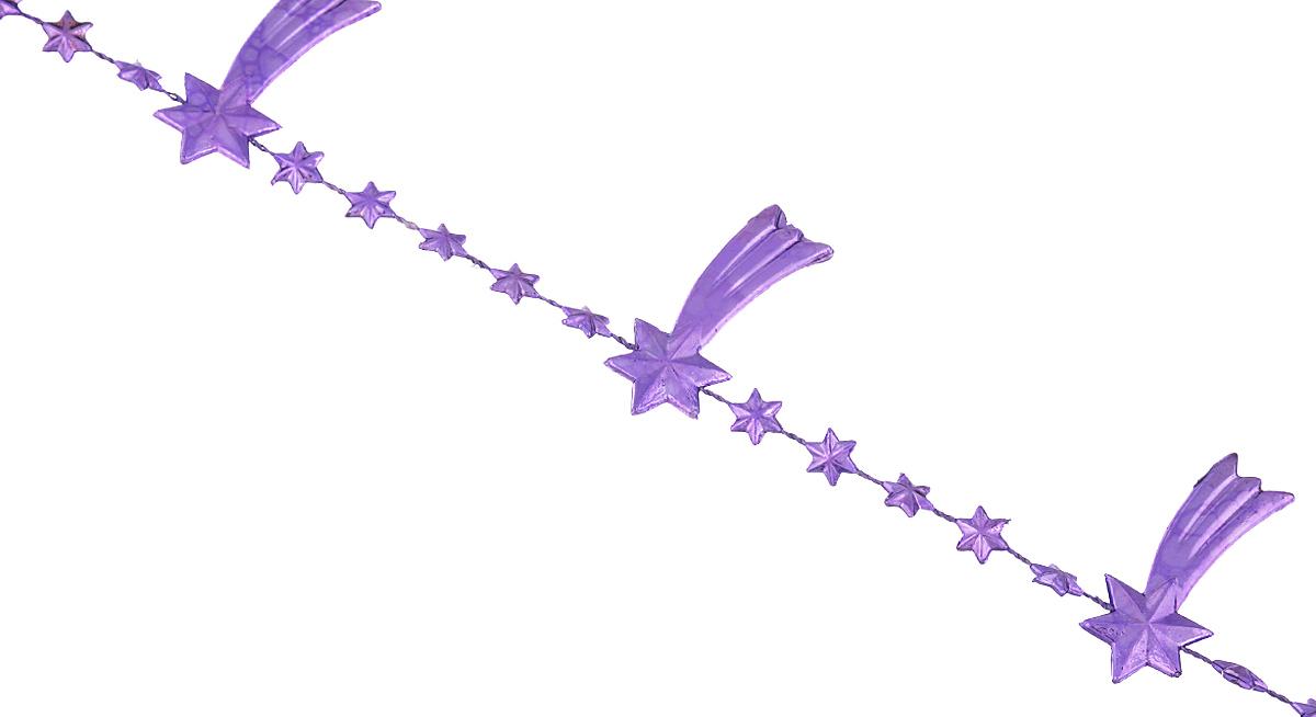 Новогодняя гирлянда Lunten Ranta Кометы, цвет: фиолетовый, длина 2 мNLED-454-9W-BKНовогодняя гирлянда Lunten Ranta Кометы отлично подойдет для декорации вашего дома и новогодней ели. Изделие, выполненное из пластика, представляет собой гирлянду на текстильной нити, на которой нанизаны фигурки в виде падающих звезд. Новогодние украшения несут в себе волшебство и красоту праздника. Они помогут вам украсить дом к предстоящим праздникам и оживить интерьер по вашему вкусу. Создайте в доме атмосферу тепла, веселья и радости, украшая его всей семьей. Размер фигурки: 4 см х 1,7 см х 0,4 см.
