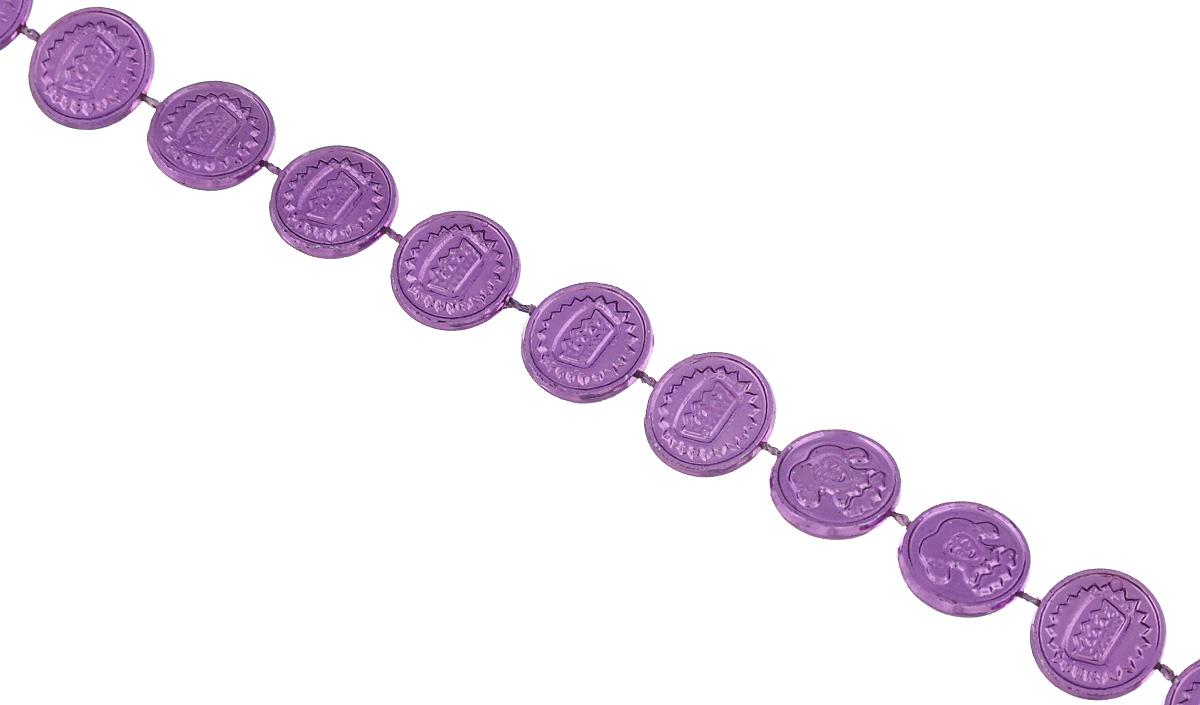 Новогоднее украшение Lunten Ranta Бусы. Монетки, цвет: фиолетовый, длина 2 м67498Новогоднее украшение Lunten Ranta Бусы. Монетки, изготовленные из высококачественного пластика, прекрасно подойдут для декора дома или новогодней ели. Новогодние бусы создают сказочную атмосферу и дарят ощущение праздника. Откройте для себя удивительный мир сказок. Почувствуйте волшебные минуты ожидания праздника, создайте новогоднее настроение вашим дорогим и близким.