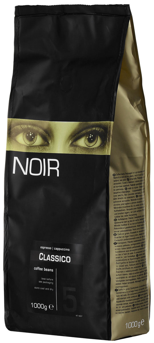 Noir Classico кофе в зернах, 1 кг0120710Кофе в зернах Noir Classico - интенсивная смесь Робусты, которая обладает плотным вкусом, стабильной пенкой и мощным послевкусием.