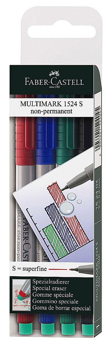 Капиллярная ручка Multimark предназначена для письма на CD, DVD дисках, пленках для проекторов и других гладких поверхностях. Ручка с обратной стороны содержит специальный ластик для стирания чернил. Чернила быстросохнущие, с яркими цветами, корпус изготовлен из прочного пластика. В наборе 4 цвета: черный, красный, синий, зеленый.