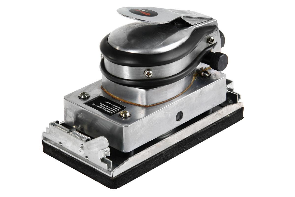 """Машина плоскошлифовальная WESTER EXS-20 90х150мм,8000об/мин0601882203В КОРОБКЕПредназначена для шлифования металла, древесины, пластика. Подойдет для финишной обработки поверхности перед покраской или лакировкой, выравнивания различных плоскостей ПРЕИМУЩЕСТВА:Эргономичный литой корпус обладает высокой теплопроводностью и надежно защищает внутренний механизм от повреждений, что увеличивает ресурс непрерывной работы и общий срок службы Высокое число колебаний подошвы (8000 ход/мин) обеспечивает быструю и качественную обработку поверхностиВозможность регулировки частоты колебаний позволяет настроить инструмент для работы с разными типами поверхностиКрепление с помощью зажимов обеспечивает жесткую фиксацию шлифлистов на подошве и быструю их замену в случае износаКомпактные размеры шлифмашины позволяют использовать ее в труднодоступных местах удерживая ее одной рукойАнтивибрационные резиновые вставки на корпусе в сочетании с широким и удобным рычагом пуска придают дополнительный комфорт в работеКОМПЛЕКТАЦИЯ Маслёнка 15мл 1 шт.Отвёртка крестовая 1 шт.Ключ торцевой 4мм 1 шт.Инструкция по эксплуатации 1 шт.Евро адаптер 1/4"""" 1 шт.Рабочая поверхность: 90х150ммЧастота колебаний на холостом ходу: 8000кол/минСредний расход воздуха: 170л/минРабочее давление:6.5барСоединение штуцера: G 1 /4 FВнутренний диаметр шланга (при длине до 8м): От 9,5 ммМасса: 2.3кгУровень шума: 83.7дБУровень вибрации на рукоятке: 1.44м/с2"""