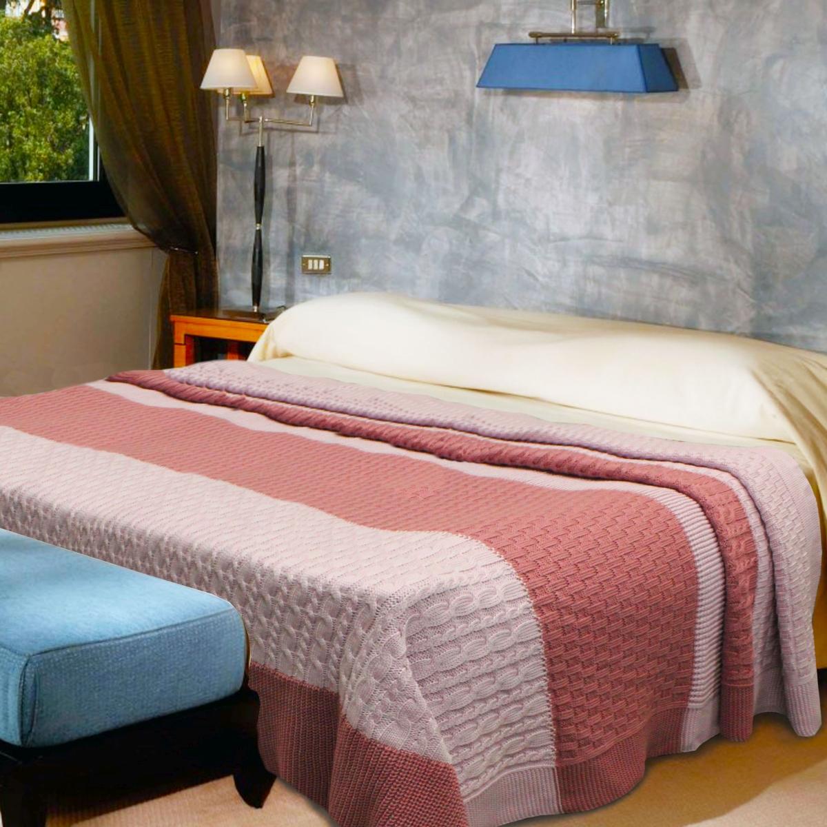 Плед Buenas Noches Cotton, цвет: розовый, бордовый, 180 х 210 смES-412Вязаный плед Buenas Noches Cotton - это идеальное решение для вашего интерьера! Плед выполнен из хлопка и акрила.Благодаря беспрецедентной стойкости и ровности красок, изделие не выгорает на солнце и остается первозданно ярким в течение продолжительного времени. Плед теплый, нежный, подкупающий не только высокими потребительскими характеристиками, но и уникальным, оригинальным внешним видом.Плед - это такой подарок, который будет всегда актуален, особенно для ваших родных и близких, ведь вы дарите им частичку своего тепла!Продукция торговой марки Buenas Noches сделана с особой заботой, специально для вас и уюта в вашем доме!