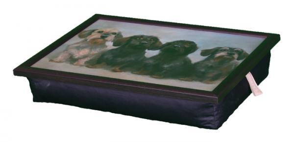 Поднос на колени Dackel /Собачки/ 40*31*13см (рамка на подносе из дерева, подушечка из ткани, наполнение пенополистирол, покрытие меламиновое)VT-1520(SR)Поднос на колени Dackel /Собачки/ 40*31*13см (рамка на подносе из дерева, подушечка из ткани, наполнение пенополистирол, покрытие меламиновое)