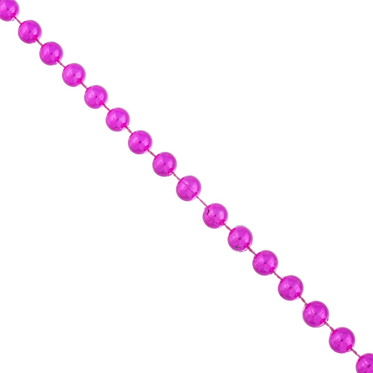 Новогоднее украшение Lunten Ranta Бусы. Крупные, цвет: фуксия, длина 2 м новогодняя гирлянда lunten ranta цвет серебристый длина 2 м 65515