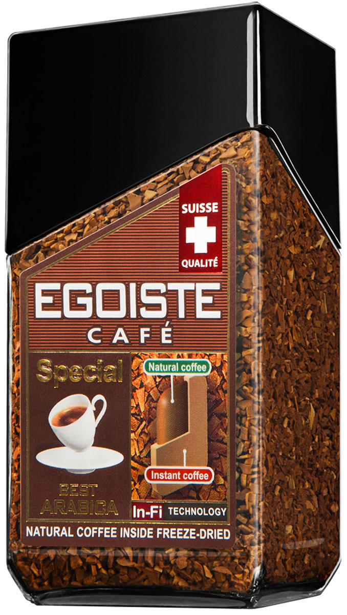 Egoiste Special кофе растворимый, 50 г464386Egoiste Special- насыщенный плотный вкус и неповторимый аромат свежезаваренного кофе из отборных зерен арабики Премиум.НEgoiste Special- насыщенный плотный вкус и неповторимый аромат свежезаваренного кофе из отборных зерен арабики Премиум.