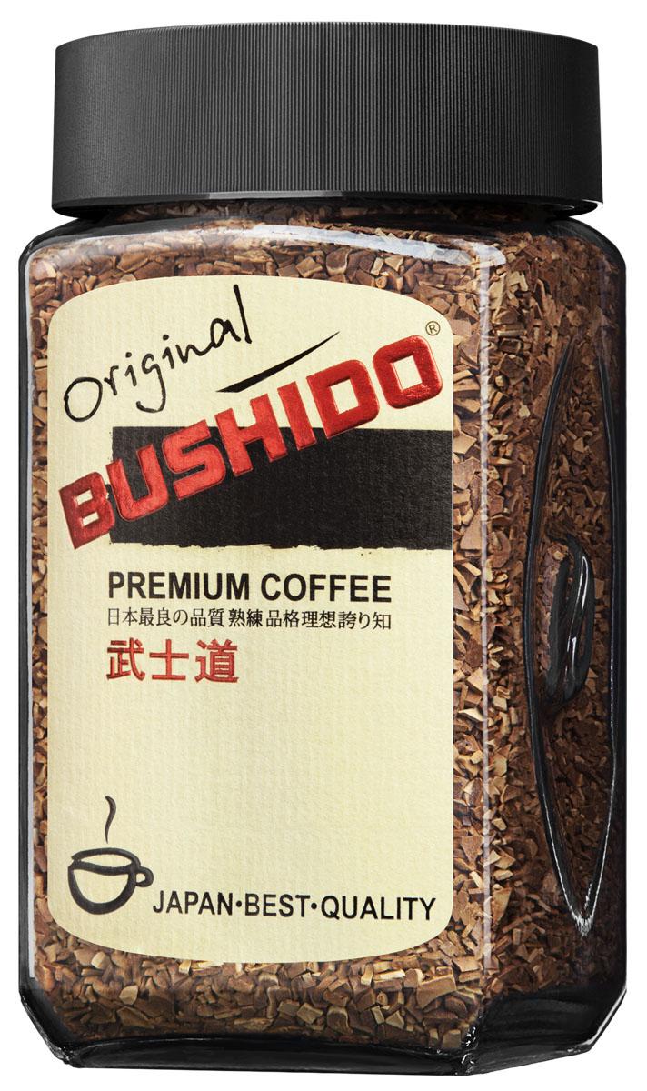Bushido Original кофе растворимый, 100 г7610121710318Bushido Original изготовлен из собранной вручную южноамериканской арабики, обладает оригинальным вкусом, тонким ароматом и долгим послевкусием.